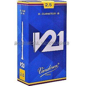 PALHETAS VANDOREN V21 PARA CLARINETE (CAIXA COM 10)