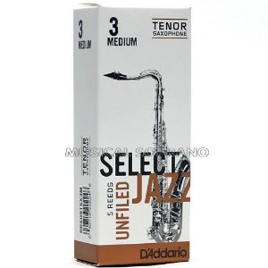 Palhetas Select jazz - Unfiled - para sax tenor (caixa com 5)