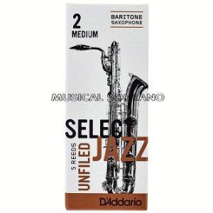 Palhetas Select jazz - Unfiled - para sax barítono (caixa com 5)