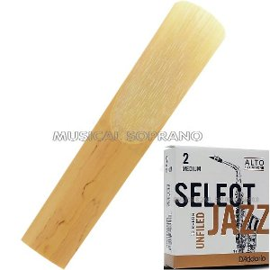 Palheta Select jazz - Unfiled - para sax alto