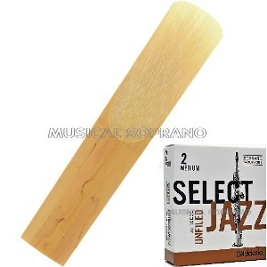 Palheta Select jazz - Unfiled - para sax soprano
