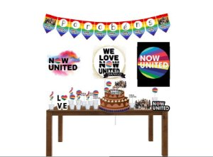 Kit Decoração Tema Now United
