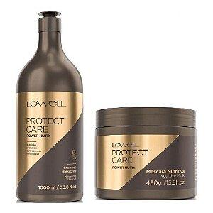 kit Lowell Protect Care Profissional Nutrição shampoo 1000ml e máscara 450g