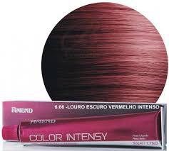 Coloração 6.66 Louro Escuro Vermelho intenso Color Intensy Amend