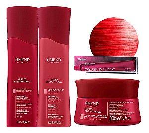 Kit Red Revival Vermelho sh + cond + Mascara + 0.6 amend