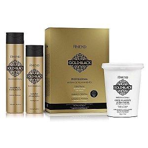 Relaxamento Guanidina 5 Aplicações / 10 Retoques Gold Black Amend Kit