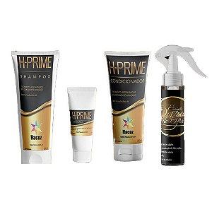 Kit Prime Shampoo, Cnd, Mascara 60g e Fluido Ouro de Ofir
