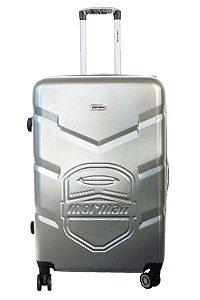 Mala de Viagem em ABS Mormaii  - Cadeado TSA e 4 Rodas 360º - MSVE113401 - Cinza
