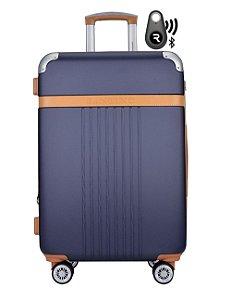 Kit Com Mala De Bordo Athena E Localizador Bluetooth Reaggio - Com Rodas 360º  - Santino - Abgv182P02 - Azul