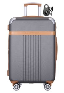 Kit Com Mala De Bordo Athena E Localizador Bluetooth Reaggio - Com Rodas 360º  - Santino - Abgv182P18 - Chumbo