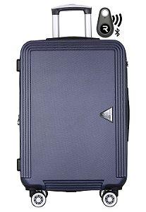 Kit com Mala de Bordo Festo e Localizador Bluetooth Reaggio - com Rodas 360º  - Santino - ABGV181P02 - Azul