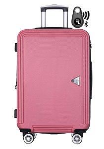 Kit com Mala de Bordo Festo e Localizador Bluetooth Reaggio - com Rodas 360º  - Santino - ABGV181P08 - Vinho/Marsala