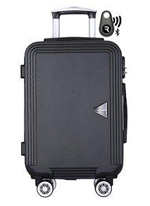 Kit com Mala de Bordo Festo e Localizador Bluetooth Reaggio - com Rodas 360º  - Santino - ABGV181P01 - Preta