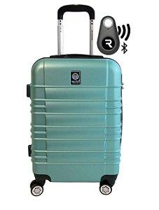 Kit com Mala de Bordo Double Wheel e Localizador Bluetooth Reaggio - com Rodas 360º  - Santino - ASAV8001P19 - Verde