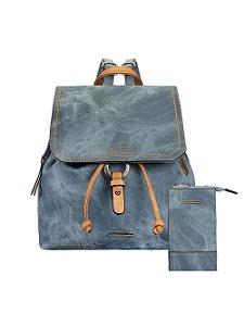 Kit Mochila Jeans com Zíperes e Bolsa Crossbody Porta Celular Mormaii - 447005 - Azul