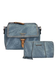 Kit Bolsa Crossbody e Carteira Estonada Mormaii - 447006 - Azul