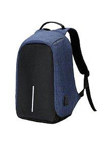 Mochila para Notebook Antifurto - MN4059 - Preto e Azul