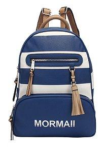 Mochila Grande Navy Mormaii - 230018 - Azul e Branco