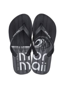 Chinelo Tropical Graphics Mormaii - Preto/Cinza