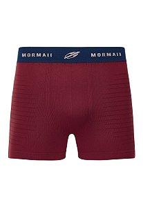 Cueca Boxer em Microfibra sem Costura Mormaii - CE073001JG4 - Vinho/Azul