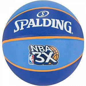 Bola de Basquete Spalding - NBA 3X - Borracha - Azul