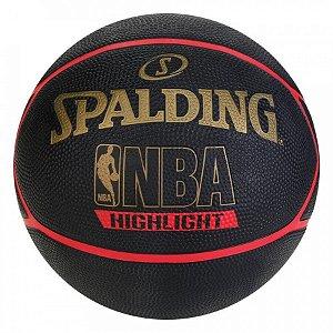 Bola De Basquete Spalding Higlight - Preta / Vermelho/Dourado
