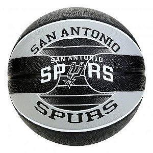 Bola Time NBA - San Antonio Spurs - Borracha - Preto/ Cinza