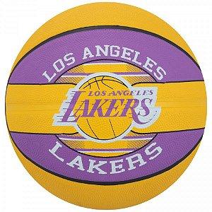 Bola de Basquete Spalding - NBA Time Lakers - Borracha - Roxo/Amarelo