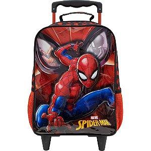 Mochila Infantil Escolar com Rodas R2 - Spider Man