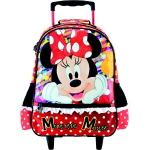 Mochila com Rodas infantil Escolar Magic Bow - Minnie Vermelha