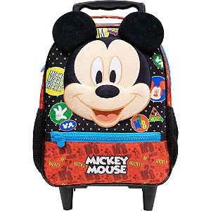 Mochila com Rodas Infantil Escolar em 3D - Mickey Mouse