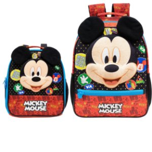 Mochila de Costas e Lancheira Infantil Escolar em 3D - Mickey Mouse
