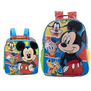 Mochila de Costas e Lancheira Infantil Escolar - Mickey Mouse