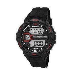 Relógio Digital Mormaii - Mo50008p - Preto/Vermelho