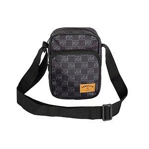 Shoulder Bag - Mochila Lateral - 2 Compartimentos - Preta