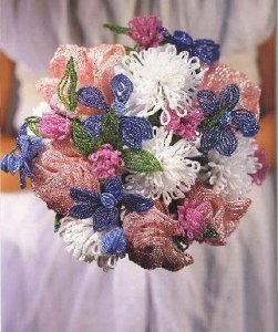 Buque de noiva flores Miçanga