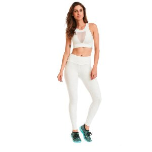 LEGGING CAJU FTCROSS BLACKOUT BRANCO TAM M