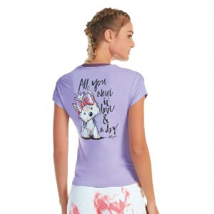 T-SHIRT AG SKIN FIT INSPIRACIONAL LILAS TREND TAM G