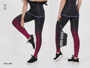 LEGGING AG UP CO2 COM DEGRADE RUNNING PRETO TAM M