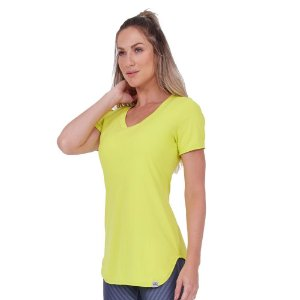 T-SHIRT AG SKIN FIT ALONGADA AMARELO LEMON TAM M