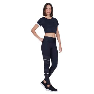 LEGGING AG BODY TEX BREEZE LASER REFLETIVO PRETO TAM M
