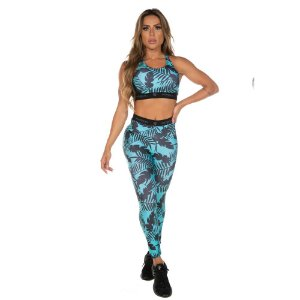 LEGGING ESTAMP. POLI ACTIVE VERDE TAM P - PHYSICAL