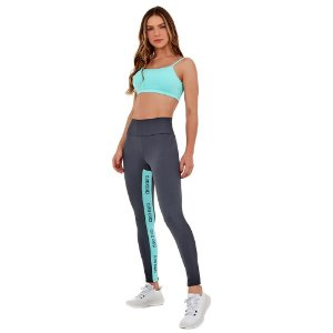 LEGGING ATHLETIC RECORTE ALTO GIRO CINZA CALCARIO - ALTOGIRO