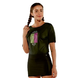 T-Shirt Fax Cropped Alto Giro
