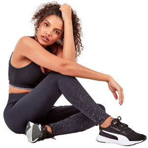 LEGGING ATHLETIC FOIL EM DEGRADE PRETO TAM M - ALTOGIRO