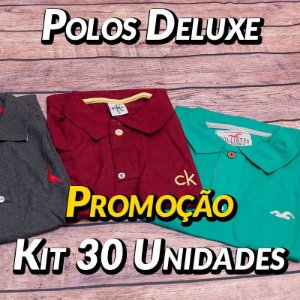 Kit 30 UN - Camiseta Polo Luxo Masculina