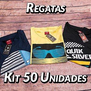 Kit 50 UN - Camiseta Regata Estampada