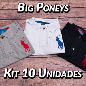 Kit 10 UN - Camiseta Polo Ralph Lauren Masculina