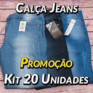 Kit 20 UN - Calças Jeans - Marcas Variadas - Roupas no Atacado