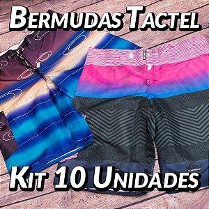 Kit 10 UN - Bermudas Tactel - Marcas Variadas - Roupas no Atacado